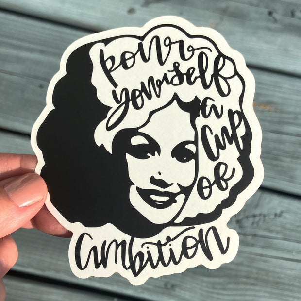 """Cup of Ambition"" Sticker"