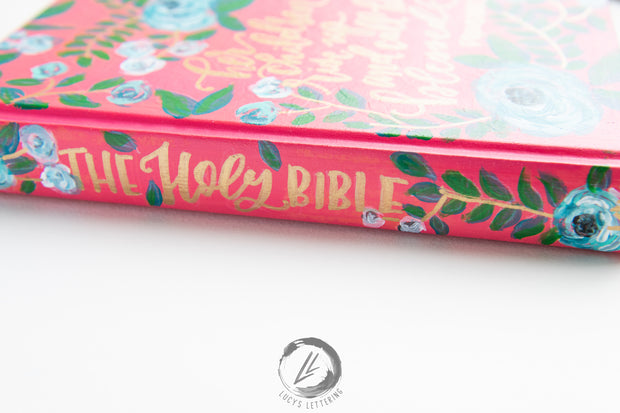 Handpainted Bible | secret garden