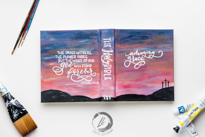 Hand Lettered Bible | the sunset