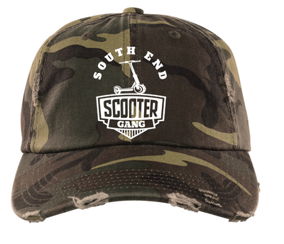 Southend Scooter Distressed Dad Hat