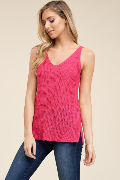 Pretty In Pink Sweater Tank