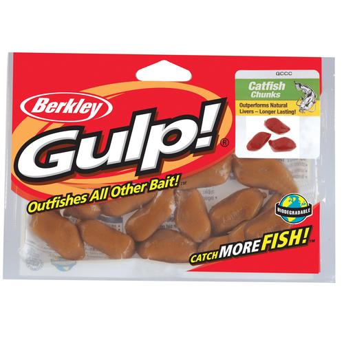 Gulp! Catfish Bait Chunks Soft Bait Blood