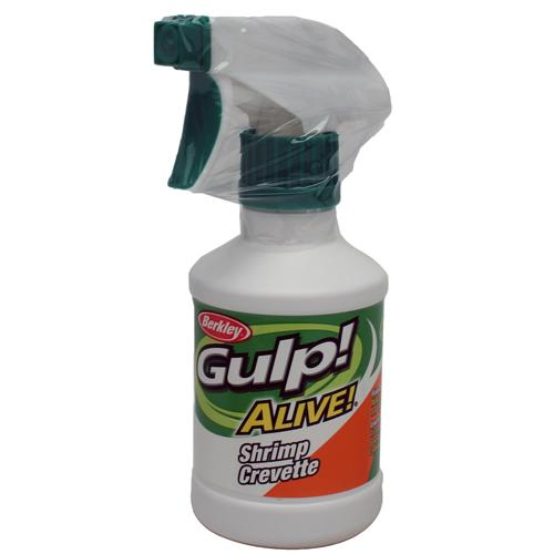 Gulp! Alive! Spray Attractant Shrimp Crevette, 8 oz Spray Bottle