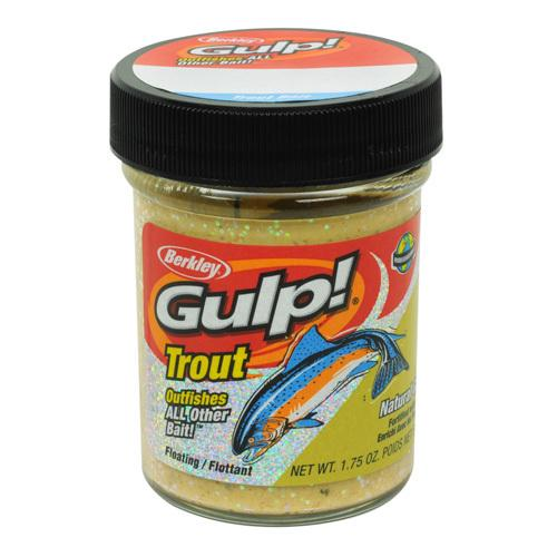 Gulp! Trout Dough Bait Garlic Scent/Flavor, Chunky Cheese