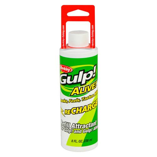 Gulp! Alive Recharge Liquid Attractant Natural Scent/Flavor, 8  oz Bottle