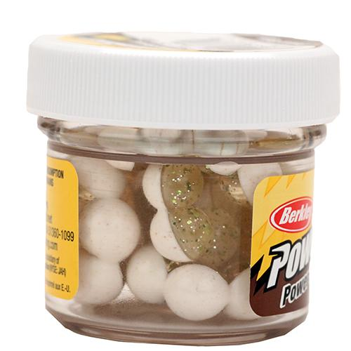 PowerBait Power Clear Eggs Floating Dough Bait Garlic Scent/Flavor, Chartreuse