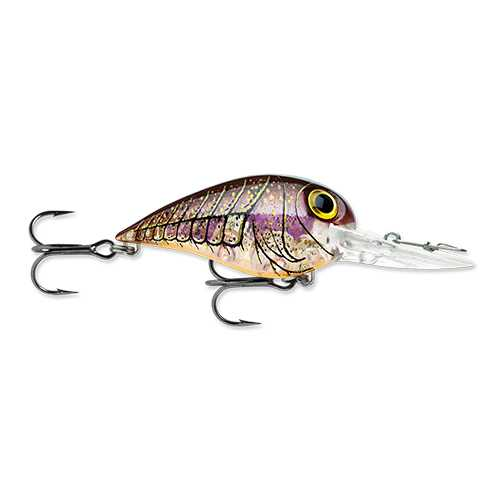 "Wiggle Wart MadFlash Hard Bait Lure 2"" Length, #6 Hook, 3/8 oz, 7'-18', Rusty Craw, Per 1"