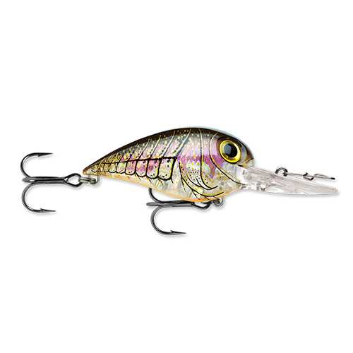 "Wiggle Wart MadFlash Hard Bait Lure 2"" Length, #6 Hook, 3/8 oz, 7'-18', Mossy Craw, Per 1"