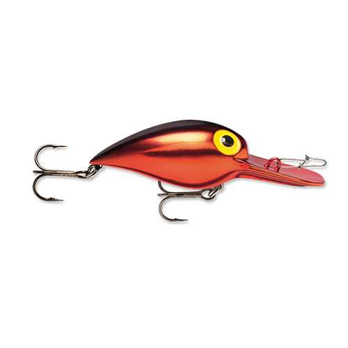 "Original Wiggle Wart Lure 2"" Length, #4 Hook, 3/8 oz, 7'-18' Depth, Metallic Red/Black Back, Per 1"