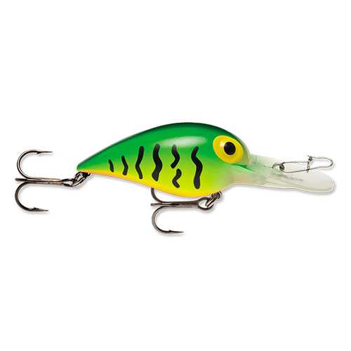 "Original Wiggle Wart Lure 2"" Length, 7'-14' Depth, Number 4 Hook, Hot Tiger, Per 1"