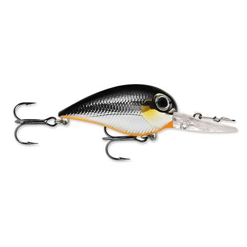 "Wiggle Wart MadFlash Hard Bait Lure 2"" Length, #6 Hook, 3/8 oz, 7'-18', Black Chrome Orange, Per 1"