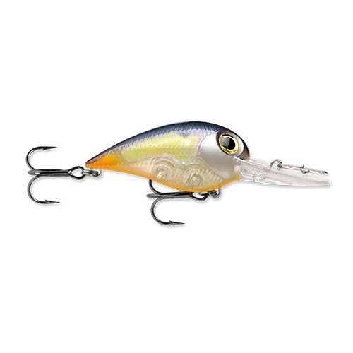 "Wiggle Wart MadFlash Hard Bait Lure 2"" Length, #6 Hook, 3/8 oz, 7'-18', Molten Steel Glow, Per 1"