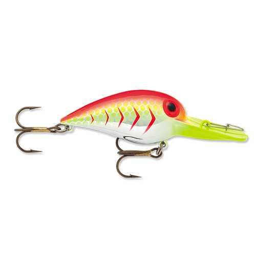 "Original Wiggle Wart Lure 2"" Length, 7'-14' Depth, Number 4 Hook, Blazin' Red UV, Per 1"