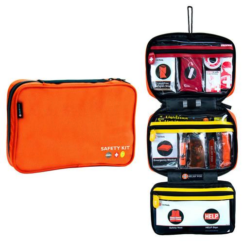 Relief Pod Roadside Safety Kit Pro w/ 56 Items - Orange