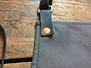ESM + Hardmill Canvas Apron Collaboration | Charcoal