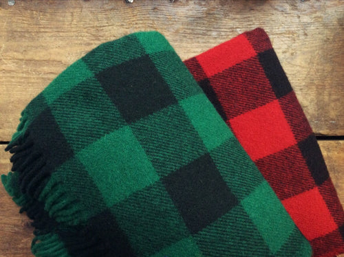 Faribault Wool Throw | Buffalo Plaid