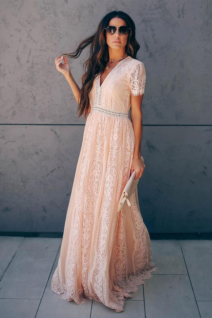 Fill Your Heart Lace Maxi Dress - VogueOnlyStation