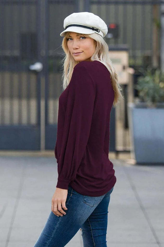 Blouson Boatneck Top - VogueOnlyStation