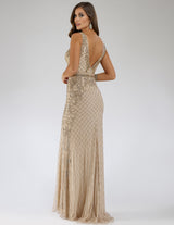 SAMINA MUGHAL Luxxe SML29535 Smart V-neckline beaded dress