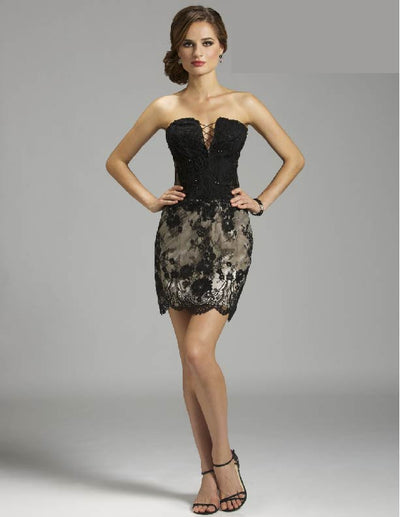 SMC32427 - Lace Dress with Corset Bodice