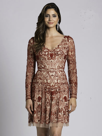 SAMINA MUGHAL Luxxe SML33414 - Unique And Fashionable, This Trendy Cocktail Dress