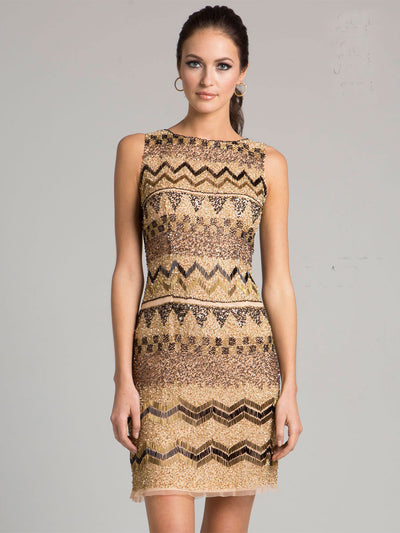 SAMINA MUGHAL Luxxe SML33416 - Exude A Tribal Vibe In This Simply Styled Short Dress