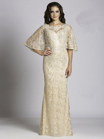 SML33490 - Twinkling Lace Dream Evening Gown