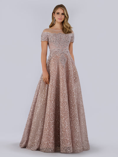 SMC29765 Beaded and embroidered A-line dress