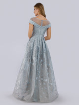 SMC29768 Embroidered and beaded A-line gown