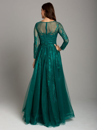 SMC29857 - Sheer Detail Evening Gown