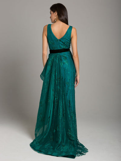 SMC29872 - Sophisticated Contrast Detail Evening Gown