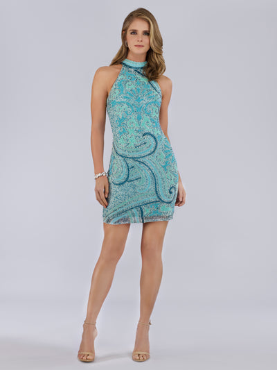 SML29719 High neck cocktail dress