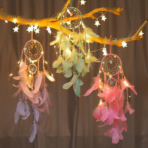 Buy Rooh Dream Catcher ~ Yellow LED Lights