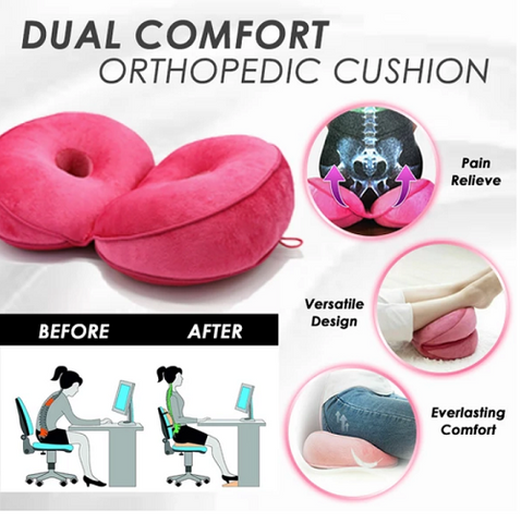Dual Comfort Orthopedic Gel Support Cushion