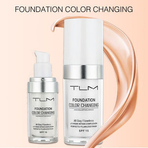 TLM Flawless Colour Changing Warm Skin Tone Foundation