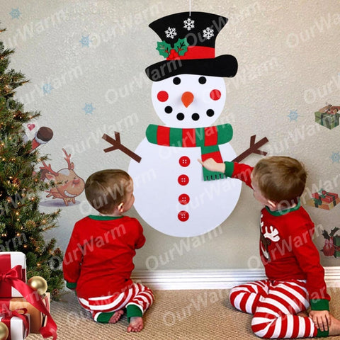 DIY Felt Christmas Snowman or Tree - Children's Favorite Gift