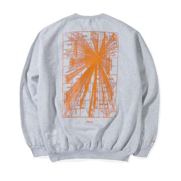 Flare Crewneck Heather White
