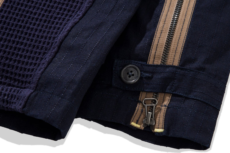 Ground Jacket Denim Waffle Navy