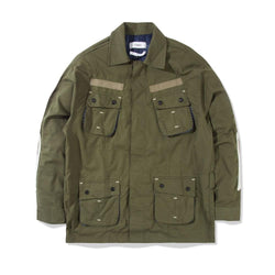 Jungle Jacket Slub Skull Olive