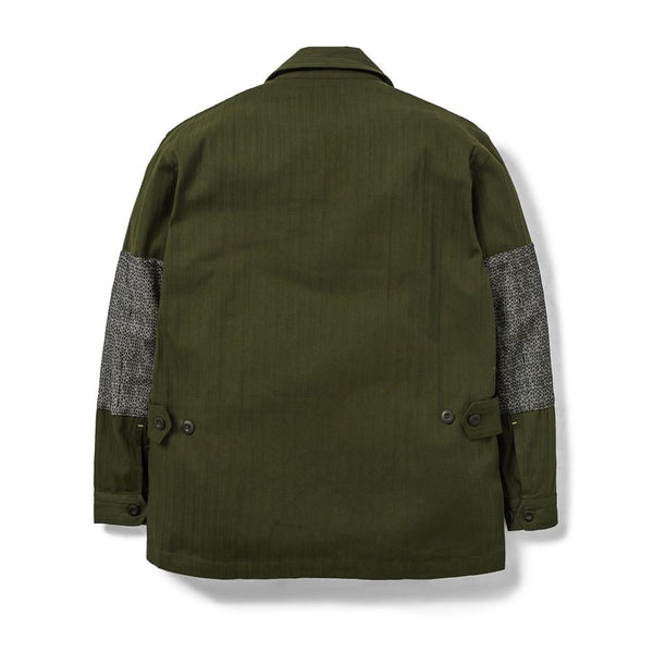Jungle Jacket Herringbone/Sashiko Denim Olive