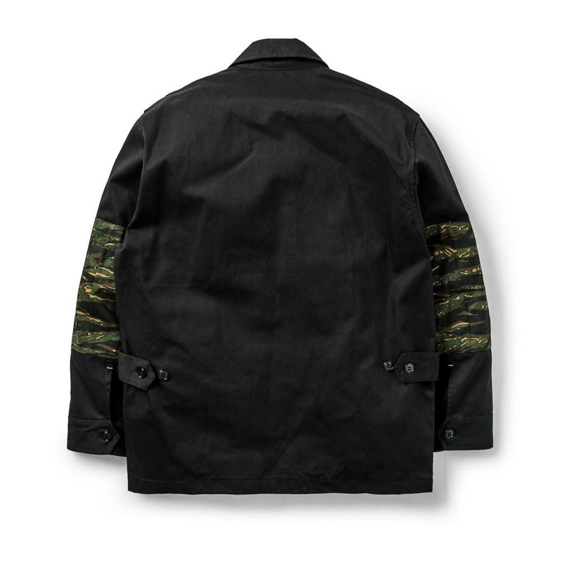 Jungle Jacket Herringbone/Tiger Camo Black