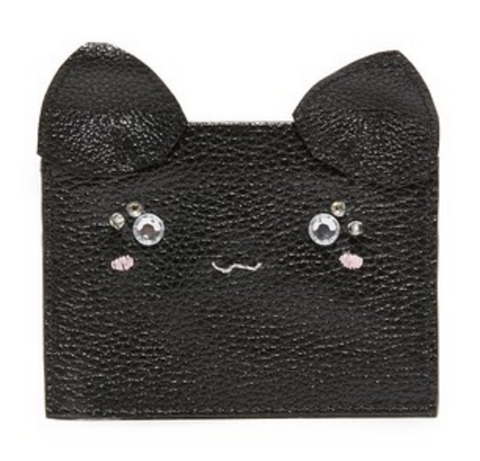Cat Card Case - Black