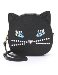 Cat Face Bag - Black