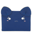 Cat Card Case - Blue