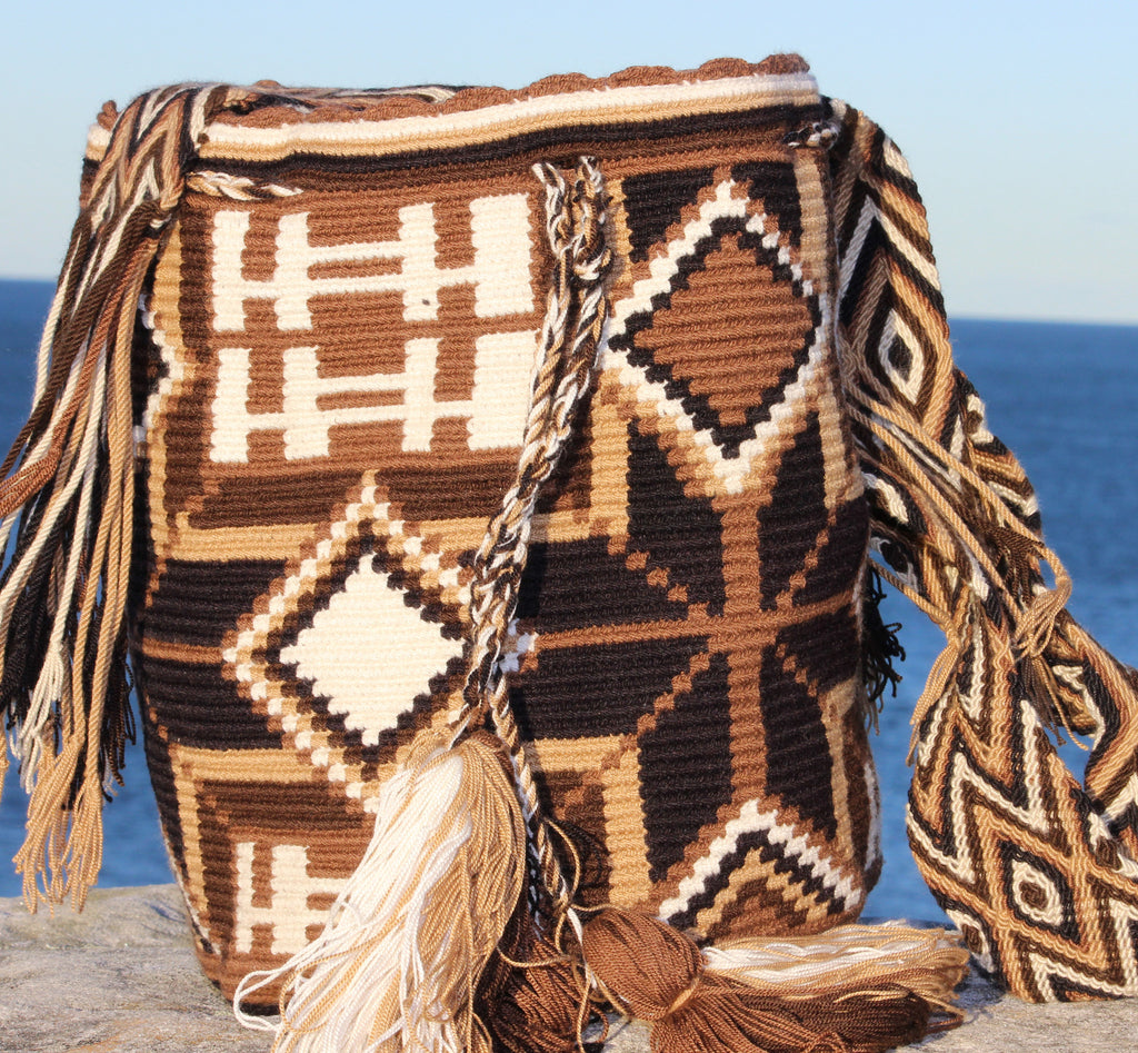 Wayuu Mochila -  Authentic Handmade Wayuu Bag - Cafe Ventura - MOBOLSO - 1