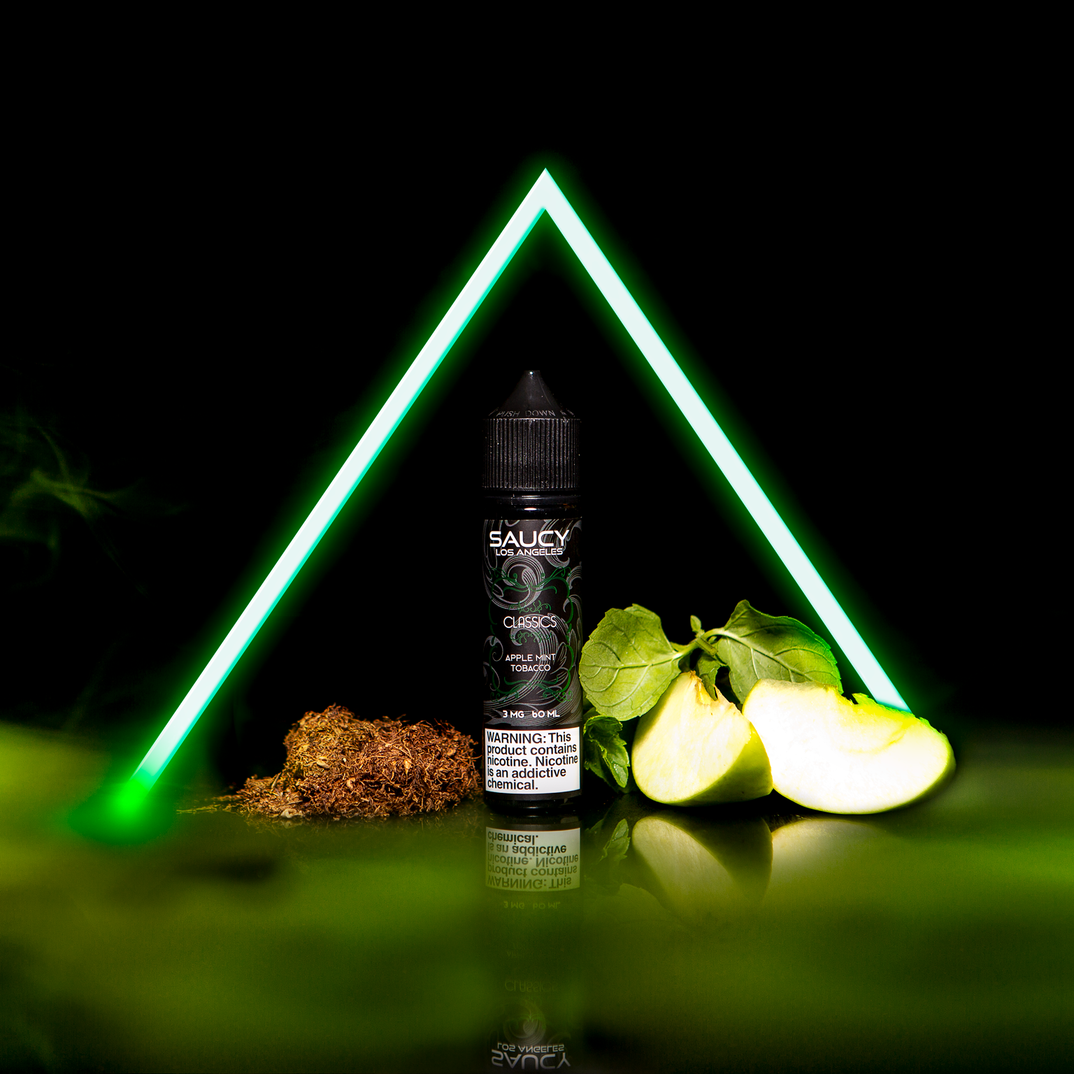 SAUCY CLASSICS – APPLE MINT TOBACCO Best E-juice E-liquid Nicotine Salts