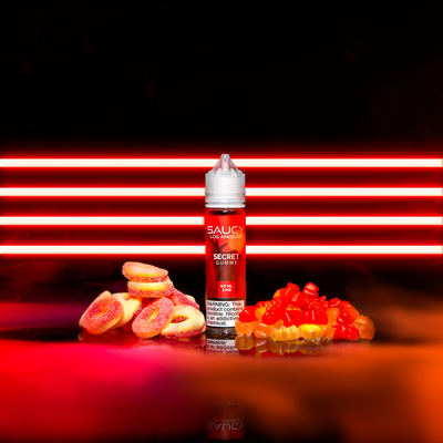SAUCY ORIGINALS – SECRET GUMMY Best E-juice E-liquid Nicotine Salts