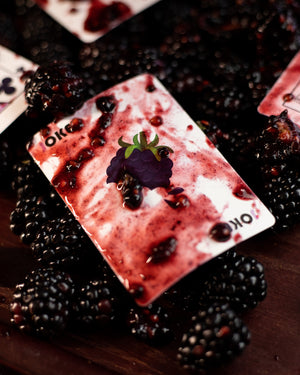 "Snackers ""Blackberry Flavor"" Playing Cards"