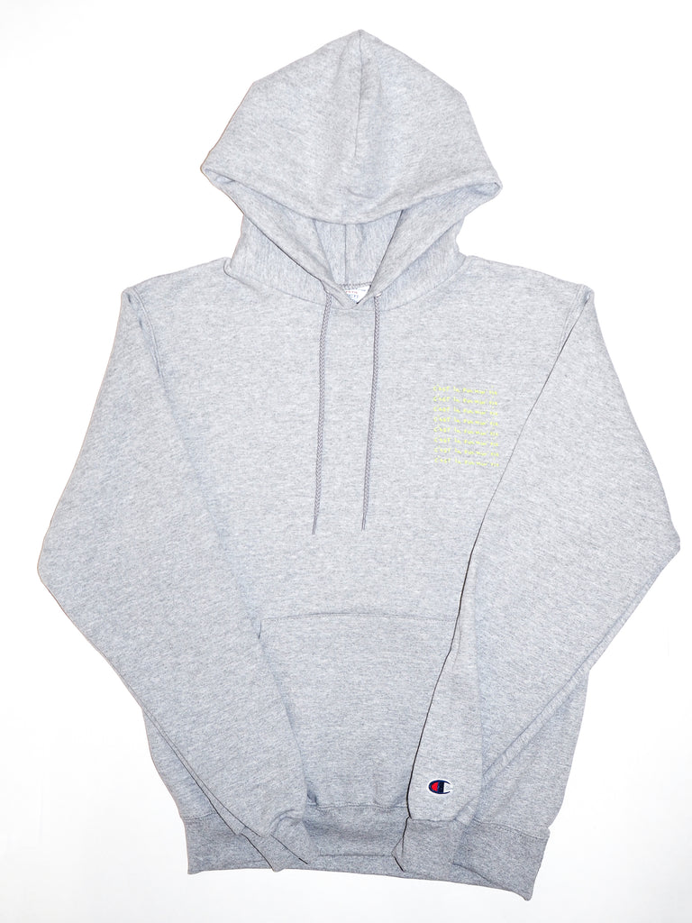Fleece Hood - New design - Heather grey