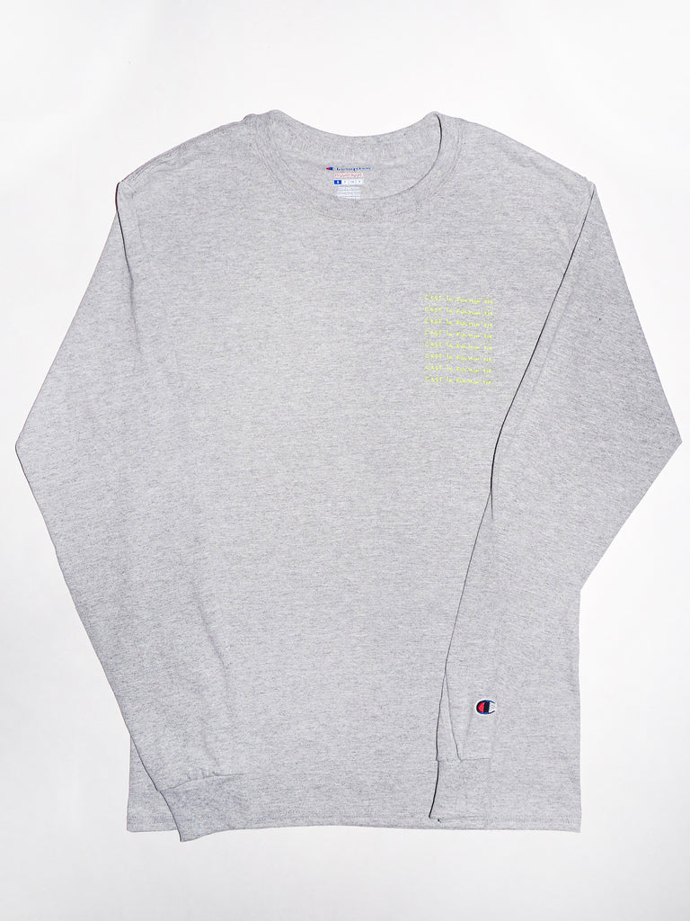 Adult Long Sleeve Tee - Heather grey